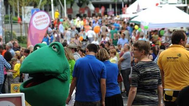 Viel Publikum auf dem SWR Sommerfestival