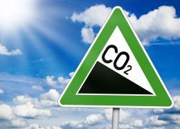 Schild mit CO2